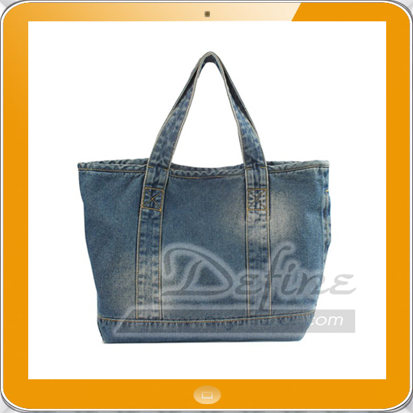 Denim Tote Bags Wholesale with Two Pockets for Men and Women