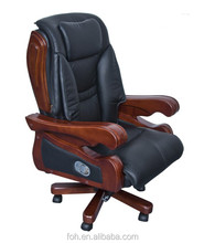 USA market hot selling deluxe armchair home goods office chair used real leather(FOH-B-10)
