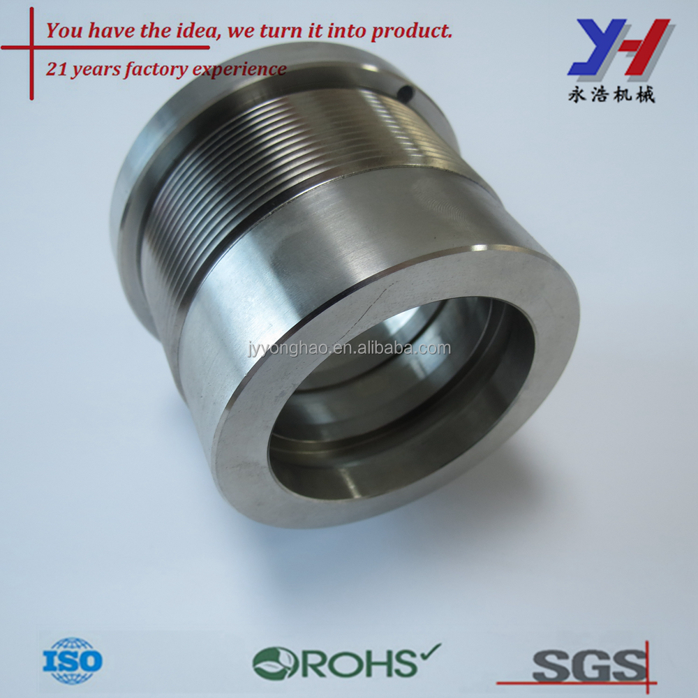 custom cnc machining stainless steel pump shaft sleeve as your drawings