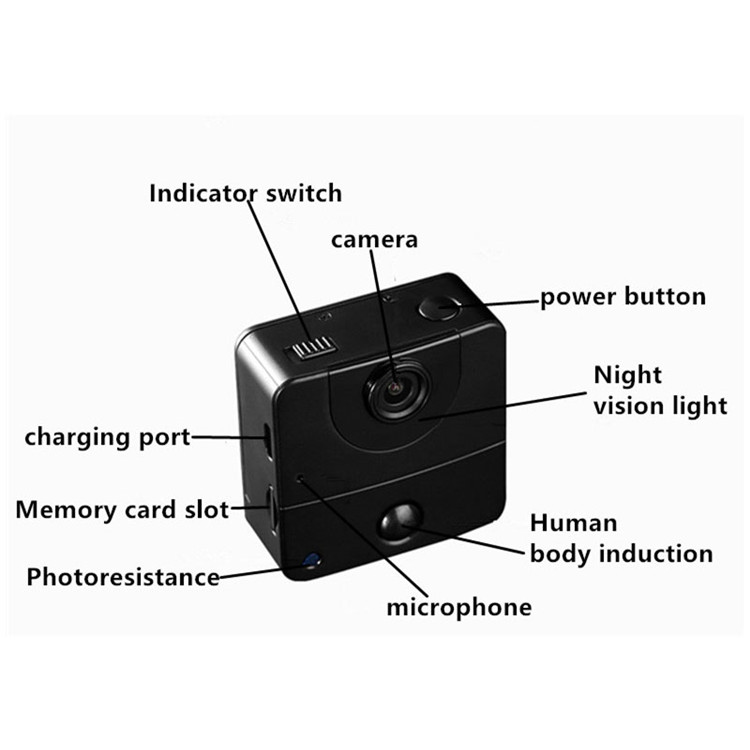 Intelligent video dvr technology night vision motion detection mini wifi hidden cctv camera