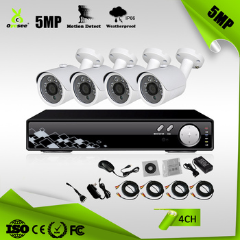 2560x1920 4CH 5 megapixel AHD bullet  4ch 5mp system cctv camera factory price oyesee