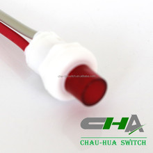 Red cap LED push button switch with wire cable C3013 apply to emergency lamp equipment