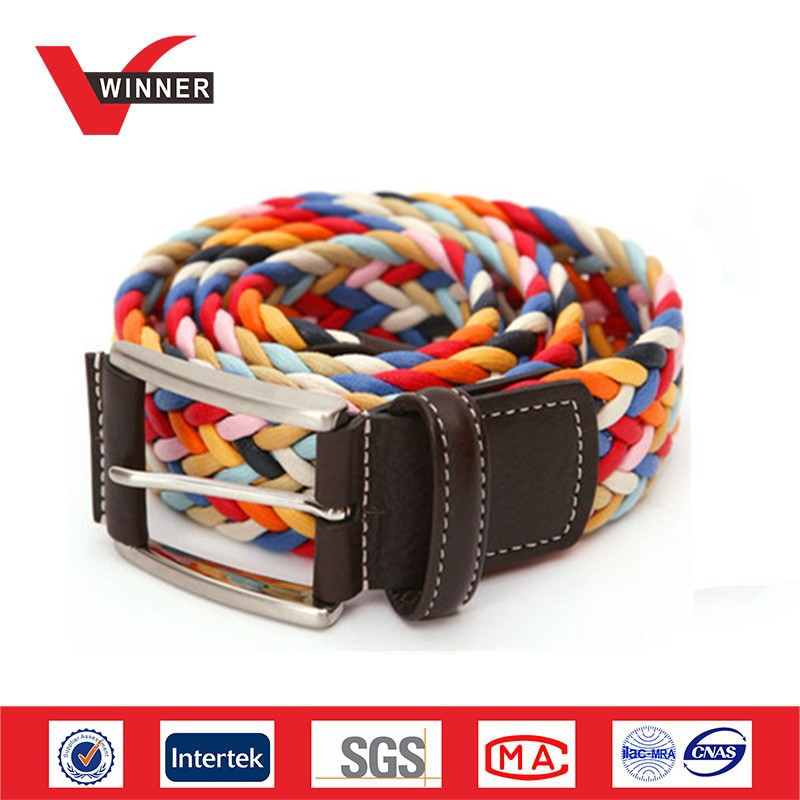 Fashionable colorful braided belt