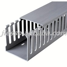 Slotted PVC Electrical Trunking Wire Cable duct With Cover