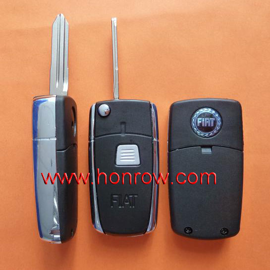 High quality Fiat 1 button filp down remote key shell with TOY43 blade&key blank,car key