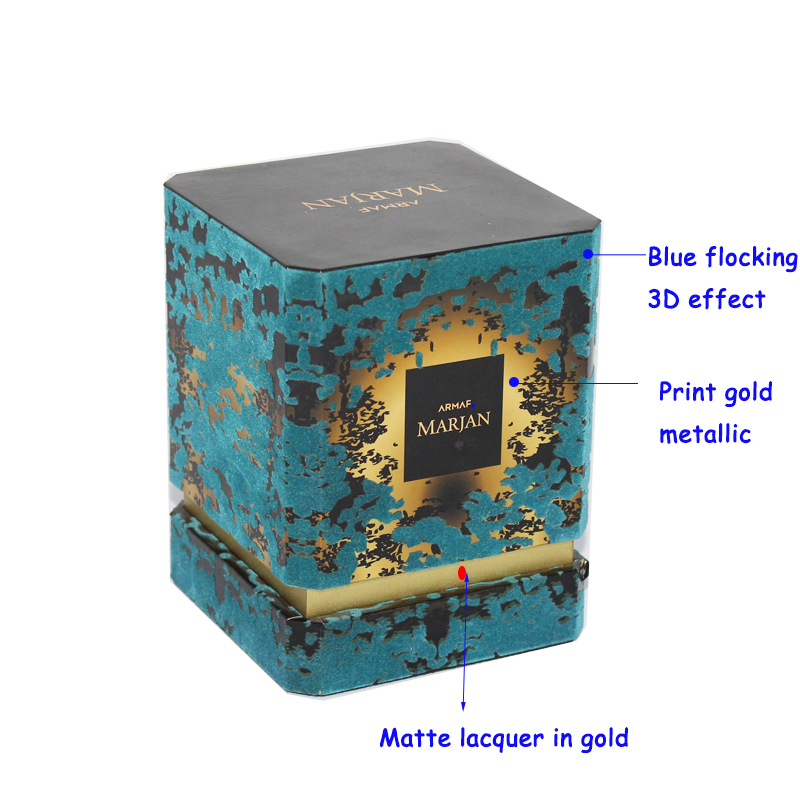 2018 ODM Trendy Flocking Single Perfume Bottle Box