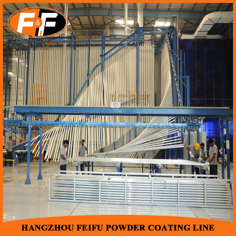 Vertical Aluminium Profile Powder Coating Plant Complete Set Price