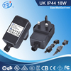 18W IP44 AC Adapter/Power Supply With GS,SAA,BS,CE,CB