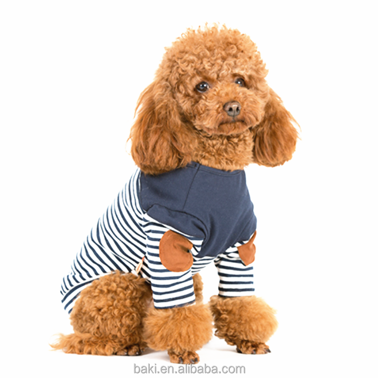 High Quality Striped T-shirt Leisure Pet Clothes Lovely Pet Dog Apparel