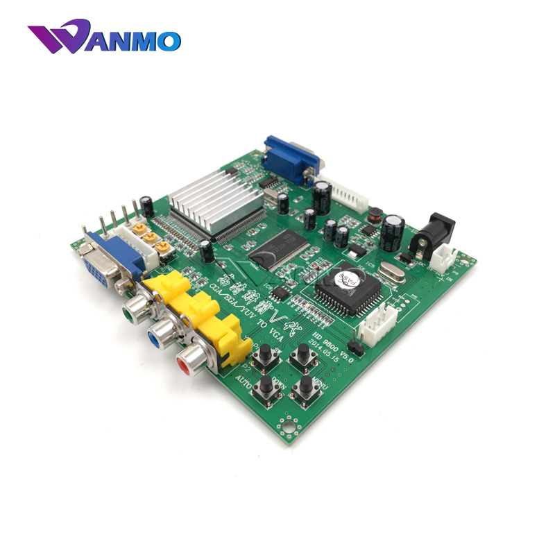 wanmo best quality 1 Set New RGB CGA to VGA HD Video Converter Board Moudle 9800 fo sale