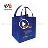 Multifunctional promotional nonwoven shopping bags