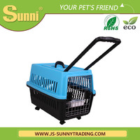 Portable dog carrier bag with wheels pvc dog house