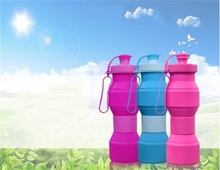 Originality High Temperature Resistance Portable Seal Up Riding Silicone Motion Fold Bottle