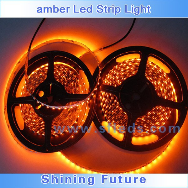 amber flexible 3528 5050 waterproof led strip light factory price whole sale