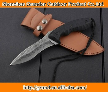 g10 handle LM-024 Straight knives fixed blade knife 56HRC 4432