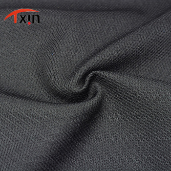 Factory 100% polyester 75D DTY 205gsm weft interlock knitting fabric cheap and healthy