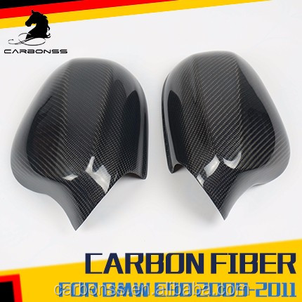 For BMW 3-Series E90 LCI Facelift 4D Carbon Fiber Side Mirror Cover Pair 328i