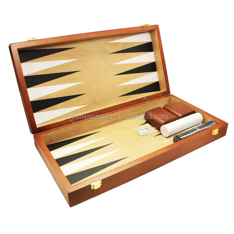 Manufacturers Selling Custom Wood Game Board Backgammon Set