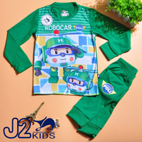 Boys garment design J2 kids cheap robocar poli clothing from turkey