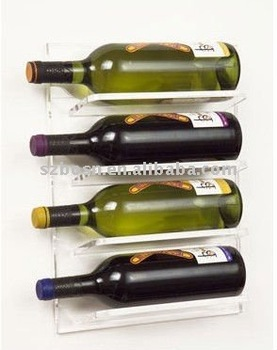 Wall-Mounted Acrylic Wine Rack