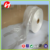 Easy carrying clear shopping bags vest handle plastic t shirt bags on rolls
