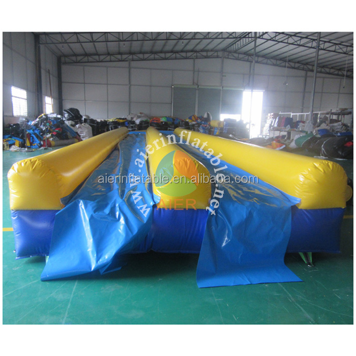 2016 child's most favourite inflatable waterslide/inflatable double lane slip slide with pool for summer