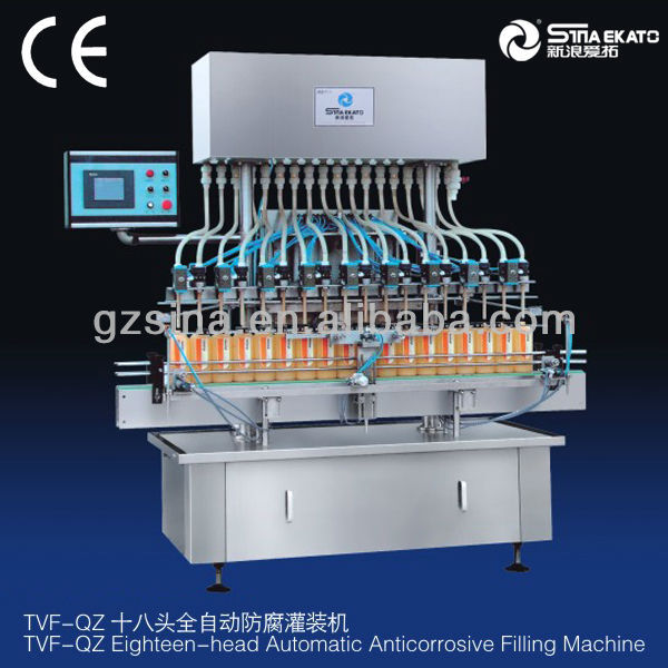 guangzhou sina ekato the newest anti-corrosive liquid bottle filling machine, bleach filler