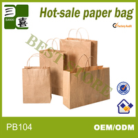 Twisted Handles Brown Kraft Paper Bag Wholesalers