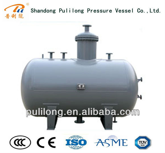 small stainless steel water storage tank / pressure vessel