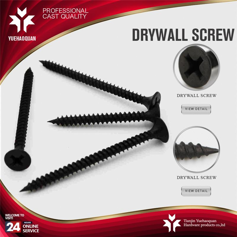 6*1 black phosphate tornillo drywall with hardening and quenching
