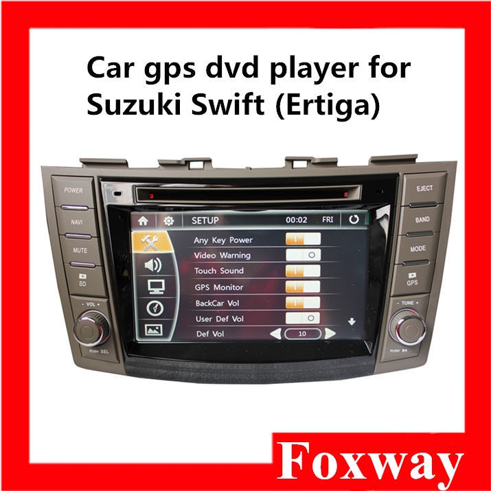 Hot selling multi media car gps dvd player with capacitive touch screen ,wifi and bluetooth for Suzuki Swift