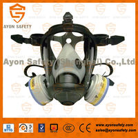 Cone riot control respirator, Industrial chemical protective full face firefighter mask with prefilter pair