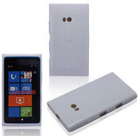 White Skin Cover Mobile Phone Accessory For Nokia Lumia 900 Solid TPU Hard Gel Case