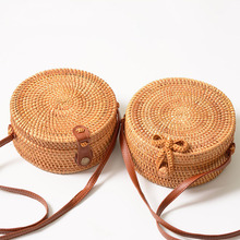 Classic Circle Handwoven Round Retro Rattan Straw Beach <strong>Bag</strong> Free Drop Shipping Square Shoulder <strong>Bag</strong> Wholesales Price