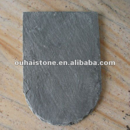 Grey natural slate roof tile for building