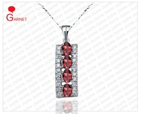 Fashion Gemstone Pendant 925 silver With Natural Garnet _SG0015P