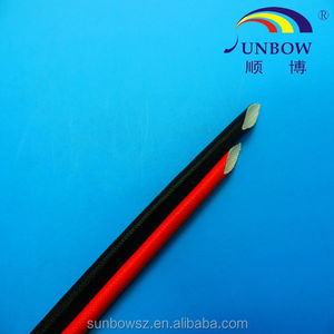 UL&CSA certificate silicone rubber glassfiber insulating sleeving(inside fiber and outside rubber)