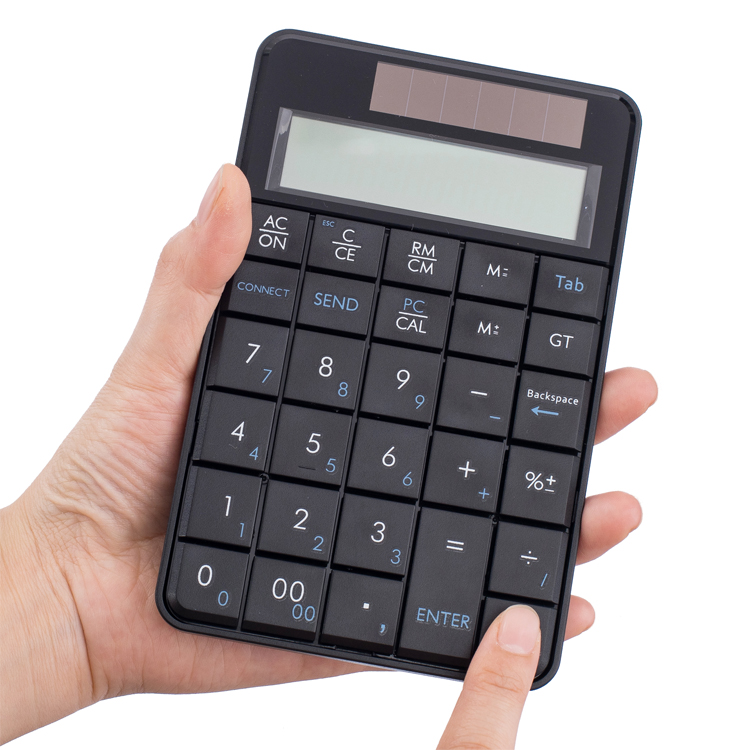 Dual Power Financial Accounting Keypad Calculator Solar <strong>Batteries</strong> for Office Home