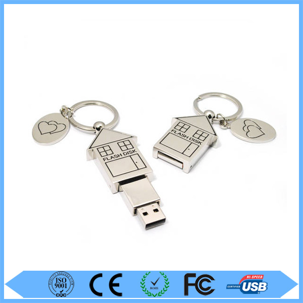 promotional christmas house shape usb flash drive