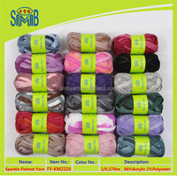 China factory outlet mesh yarn for hand knitting scarf acrylic blends yarn space dye fishnet knitting yarn