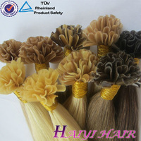 wholesale remy prebonded hair extension brazilian u tip hair/flat tip/i tip hair wholesale 100% Pure Human Hair Extension
