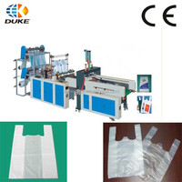 GBDE-700 Factory Direct Four Lines Full Automatic Plastic HDPE T-shirt Bag Making Machine