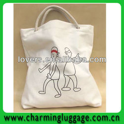 cute design canvas tote bag for promotion