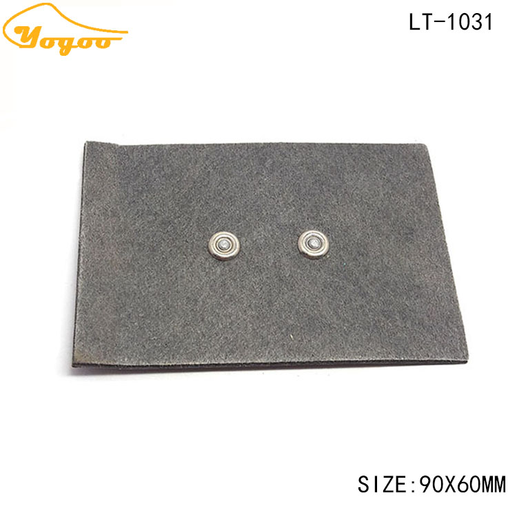 High quality custom made embossed metal pu leather label patches for jeans