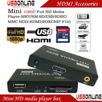 Mini SD USB HDD HD Media Player box with Autoplay function 1080P Full HD