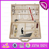 2015 Stock interesting kid wooden tool box toy,Funny play wooden toy tool box toy W03D021-A2