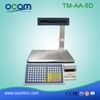 TM-AA-5D: digital weighing scale with printer, 30kg electronic weighing scale