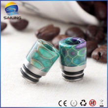 Resin stabilized wood drip tips for cleito tfv8 Kennedy comp lyfe528 tank rda