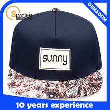 Sunny shine new style product custom fashion character cheap woven label square brim snapbacks