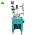 100l Stirring-motor Driven Single Deck Chemical Glass Reactor With Water Or Oil Bath